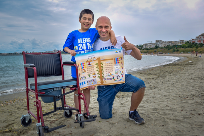 Beach for people with disabilities, in Constanta