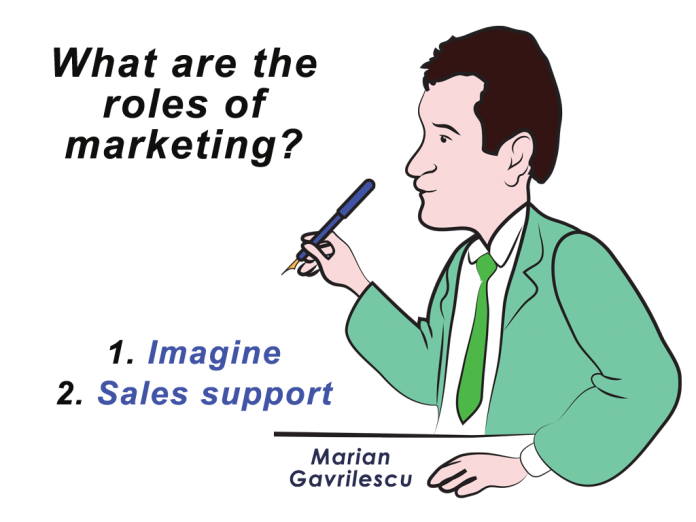 Marian Gavrilescu about Marketing and its two main roles